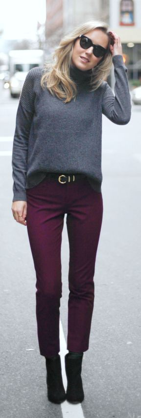 best 25 plum pants outfit ideas on pinterest purple fall outfits purple leggings and maroon. Black Bedroom Furniture Sets. Home Design Ideas