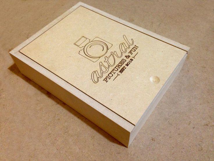 Caja MDF personalizada con grabado láser