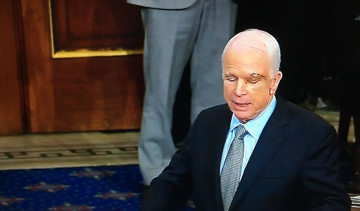 Today, onthe floor of the Senate, Senator John McCain (R-AZ) appearedbriefly to give a speech to his colleagues on why he was votingfor the Motion to Proceed on Obamacare repeal/replace legislation. He also explained why he doesn't intend on voting for the bill itself as written.However, hegave a master class on Senate history, the purpose of our Republican government, and why he felt it was necessary at times to do things he did not agree with. You and I will find many things t...