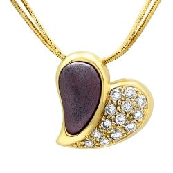 Purple Gold and Diamond Necklace