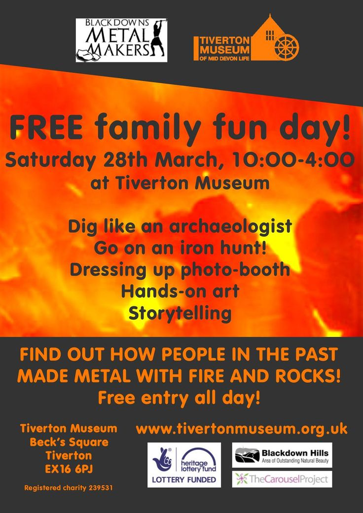 Tiverton Museum, March 28th 10am-2pm, free family day out