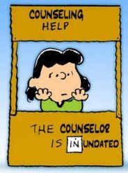 Counseling.Book Nerd, The Doctors, Grad Pictures, Social Media, Charli Brown, Lucy Vans Pelt, Grief Counseling, Comics Strips, Peanut Gang