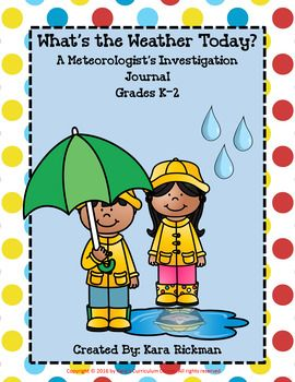 When you are studying about the weather, students can investigate the weather daily and record it in a journal. This is the perfect packet for that skill! Students will enjoy observing the weather in their daily weather journal and recording the temperature, rainfall, wind speed, what they are wearing and forecasting!