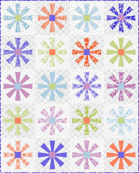 Shop | Category: Modern Mixers by Studioe | Product: Modern Mixers Quilt #2 - Flower Dance