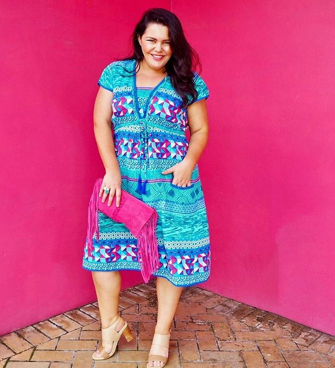 @stacey_mcgregs showing us how to look our Sunday best!! Wearing the Amber dress in the Barbados print... perfection!