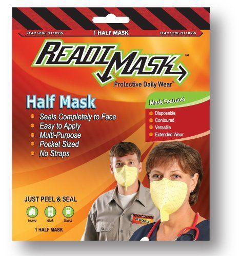 Readi Mask - Half Mask by Global Safety First. $3.49. http://notloseyourself.com/app/dpbvq/Bb0v0q4eJwUuRbVcLq8t.html
