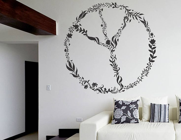 Large nature peace sign wall sticker