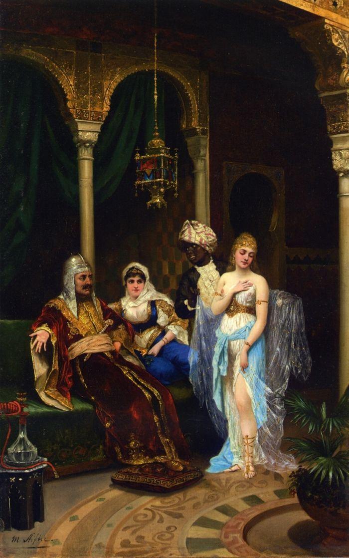 Moritz Stifter (Austrian Painter , 1857 -1905 ) – The Rhamazan Bride