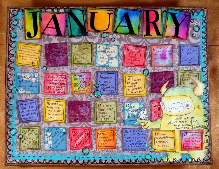 Art Journal Calendar Pages : Best calendar ideas images on pinterest