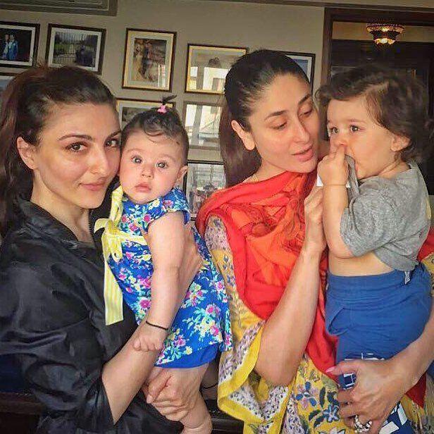 Soha Ali Khan And Her Daughter Inaaya With Kareena Kapoor Khan And Taimur Ali Khan Pataudi Kareena Kapoor Kareena Kapoor Khan Taimur Ali Khan