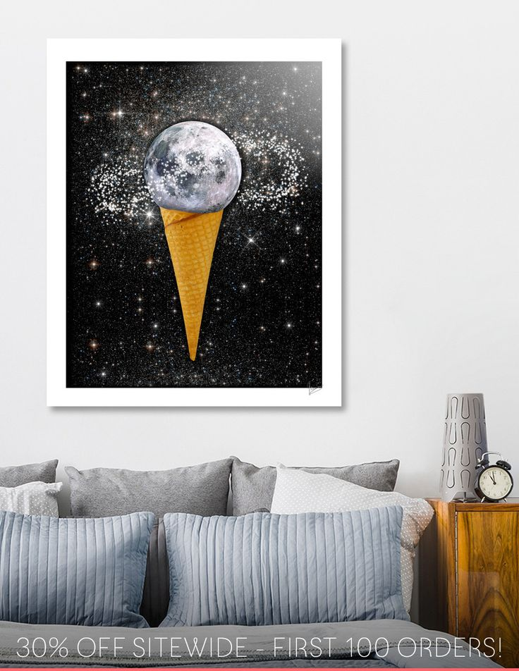 Discover «MOON ICE CREAM», Numbered Edition Aluminum Print by Gloria  Sánchez - From 55€ - Curioos