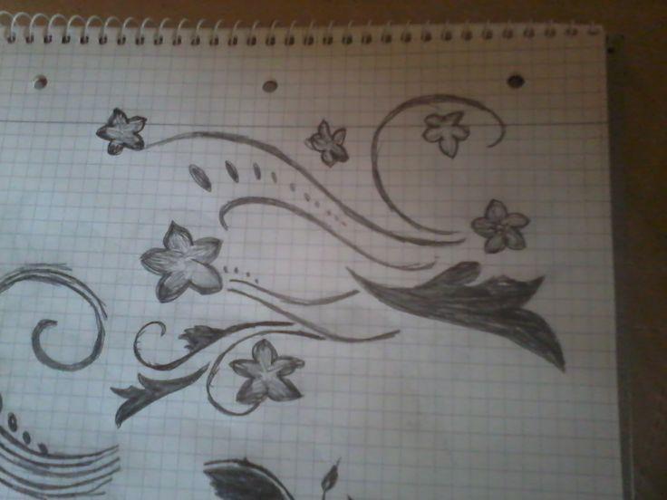 Skizze für ein Wandbild