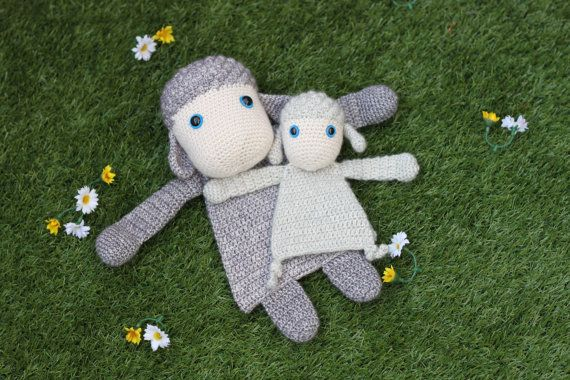 Duo Deal: Sheep and Little Lamb Ragdoll crochet by AlaSascha