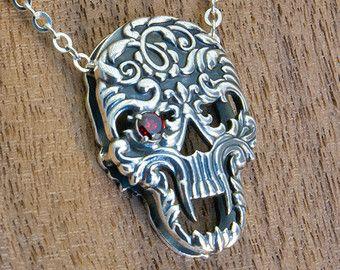 Browse unique items from KermeleJewellery on EtsySterling Silver Skull Sugar Skull Necklace Skull Pendant Skull Locket Skull Jewelry Skull Sharm 22,00 US$