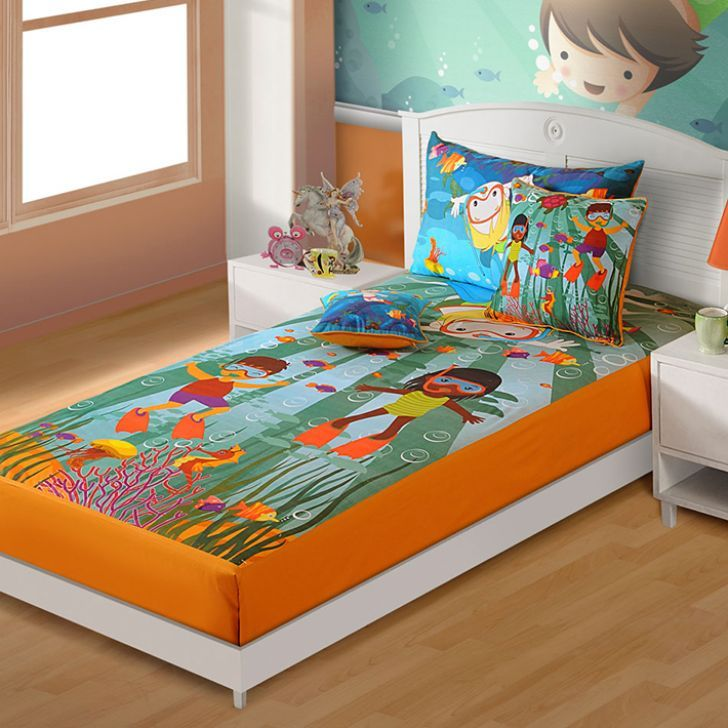 Spread Lively Bed Sheets To Maintain The Chirpiness Of Your Kidu0027s Room