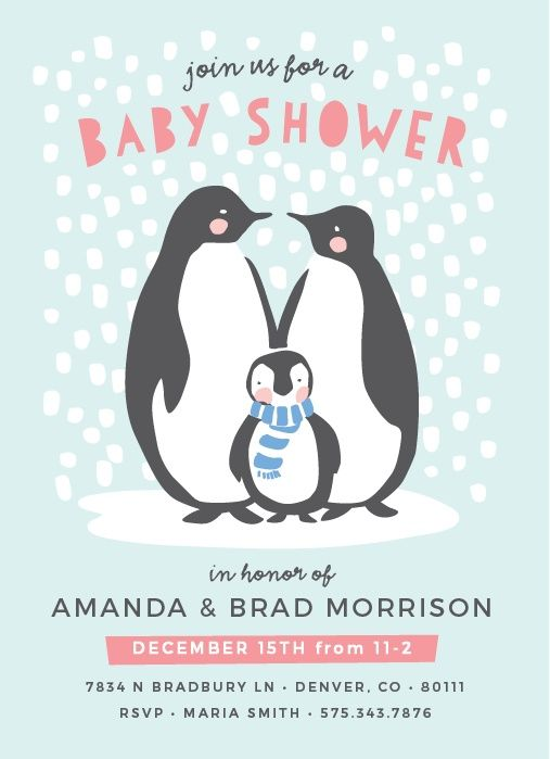 baby shower cards shower baby baby shower invitations penguin baby