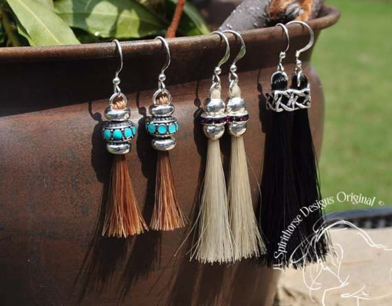ISLEEN - Horse Hair Earrings - Sterling Silver. $28.00, via Etsy.