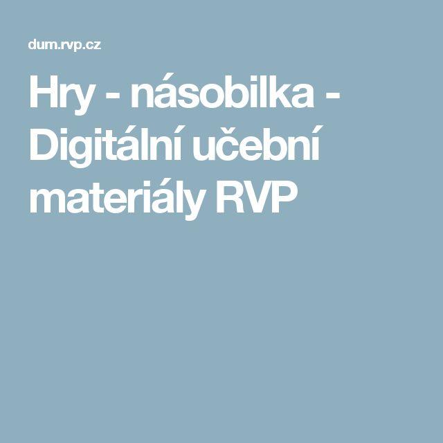 Hry - násobilka - Digitální učební materiály RVP