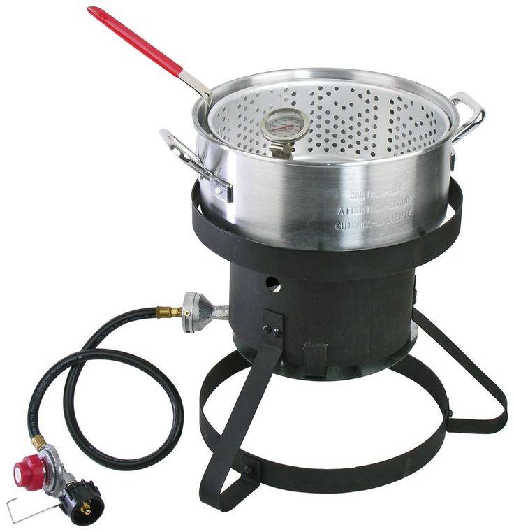 Cajun injector gas fish fryer 10qt capacity 41000 btu for Fish cooker burner
