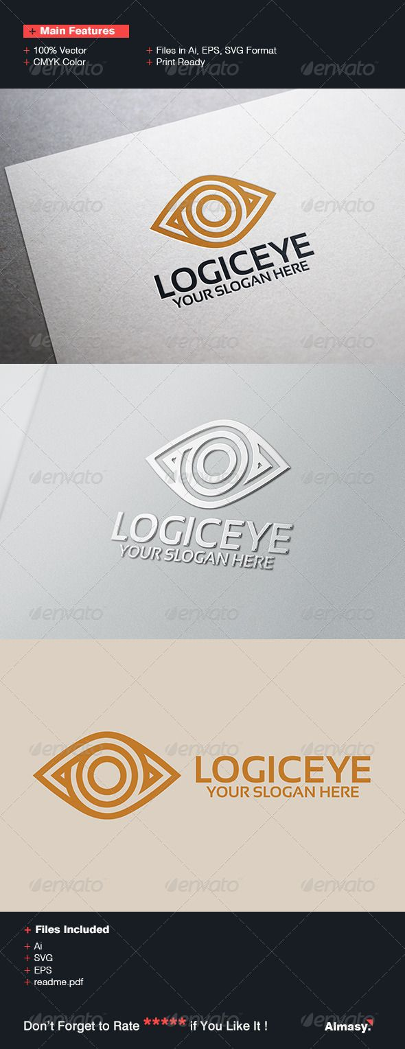Logic Eye Logo Template — Vector EPS #logic #media • Available here → https://graphicriver.net/item/logic-eye-logo-template/6854723?ref=pxcr