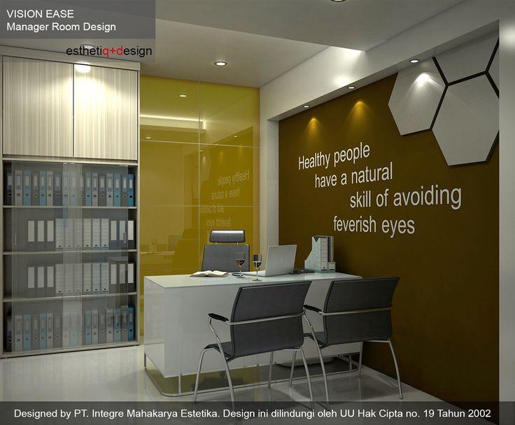 Desain Interior ruang kerja Manager Vision Ease l design by esthetiq.com