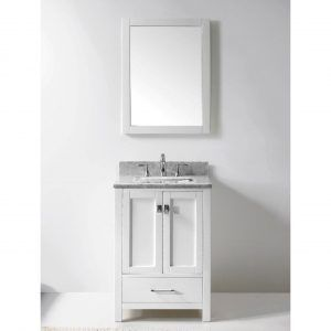 Photo Album For Website  White Bathroom Vanity With Marble Top