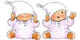 Muursticker voor de baby kamer. Baby Bobbi - Monica Maas roze met muts. Ook voor the boys beschikbaar. Lief!!!