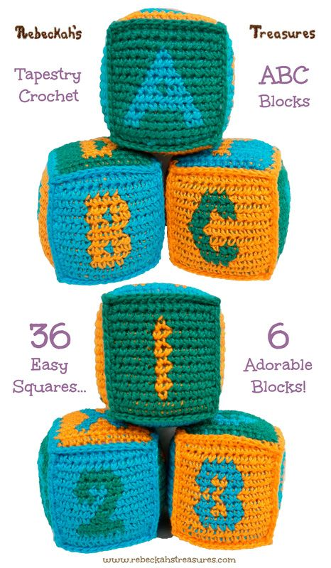 Free Tapestry Crochet ABC Blocks Pattern by Rebeckah's Treasures