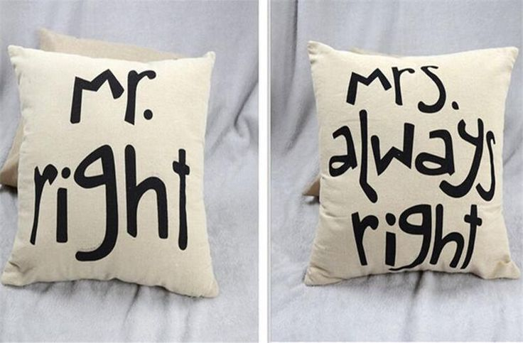 Mr and Mrs pillow cover, Mr right Mrs always right Pillow, personalized cushion cover,decorative throw pillows, wedding gifts for couple~ by SimplyStunningEvent on Etsy