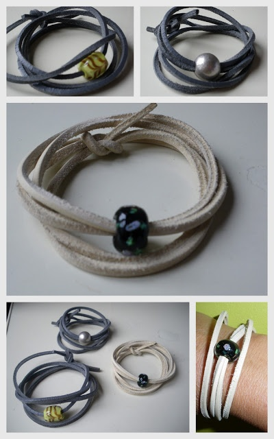 leren armband met kraal