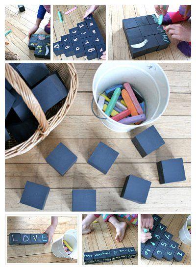 {DIY Chalk Blocks} Oh the possibilities!