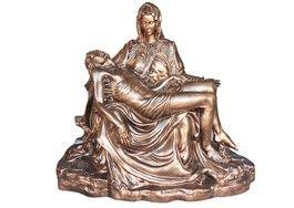 Pietà  altezza cm. 130 colore bronzo in vetroresina  http://www.ovunqueproteggimi.com/collezione-statue/madonne/piet%C3%A0/