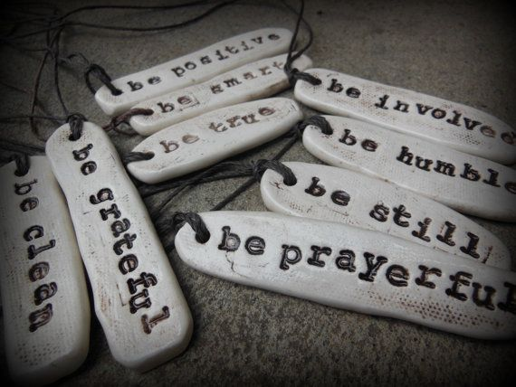 Be Attitudes Rustic Ceramic Inspirational by ThisOnesMineDesigns