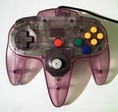 Purple Nintendo 64 Controller  I HAVE THIS!!! :D