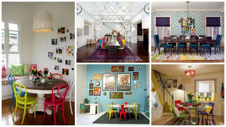 17 Cool Colorful Dining Rooms With Eclectic Influence | Architecture, Art, Desings | Bloglovin'
