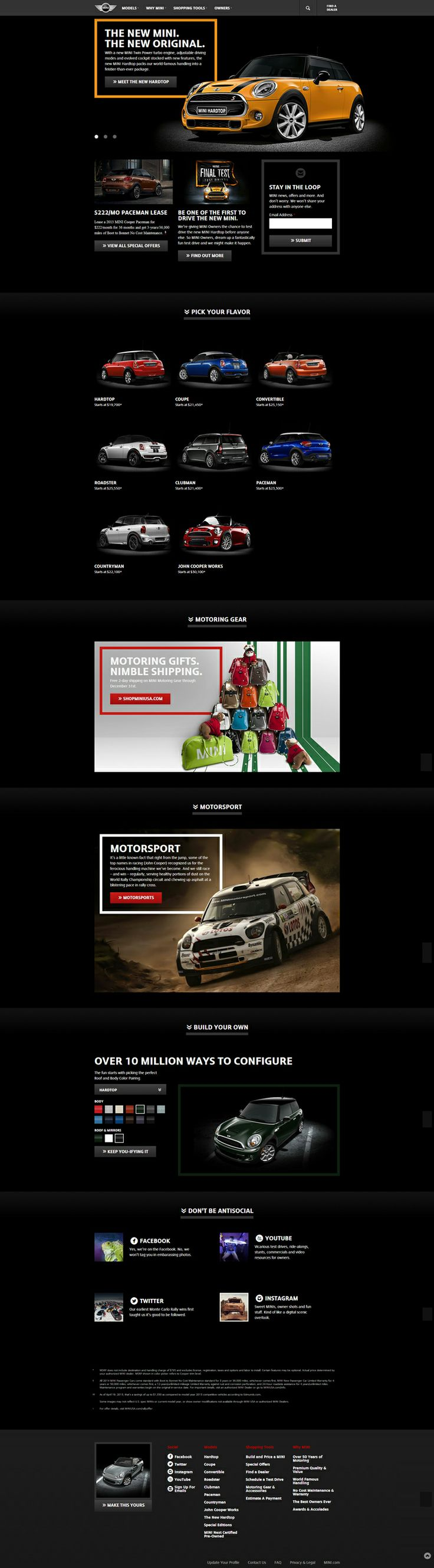 Mini Cooper - Car Website Designs For Your Inspiration