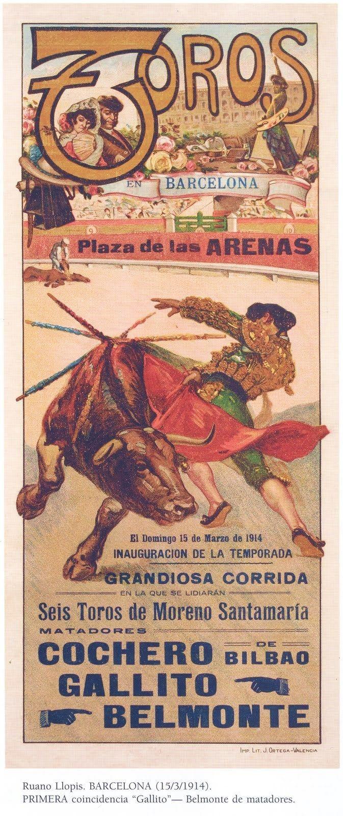 PLAZA DE TOROS LAS ARENAS.BARCELONA.1914