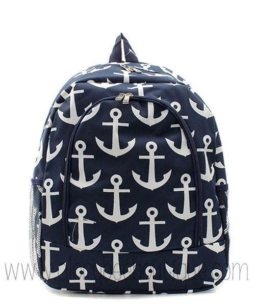 Anchor Backpack, Monogrammed Anchor Backpack, Monogram Back to School on Etsy, $34.95