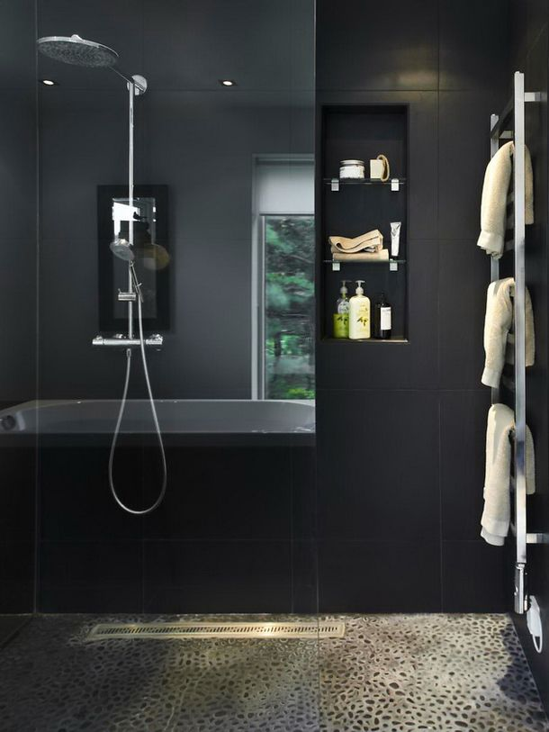 Best Badkamer Images On Pinterest Bathroom Ideas Decorating - Black towels for small bathroom ideas