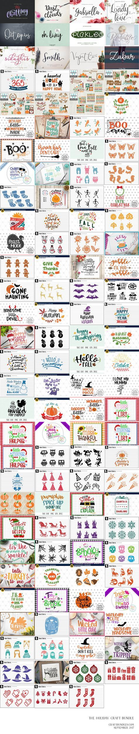 Free SVG cut files: The HUGE Holiday Craft Bundle is going and not coming back!! Jammed packed with over 12 different fonts and over 100 different craft products this craft bundle gives you an unlimited amount of projects you could create just in time for the holidays! • 12 fonts • 100 different craft products in...Read More »