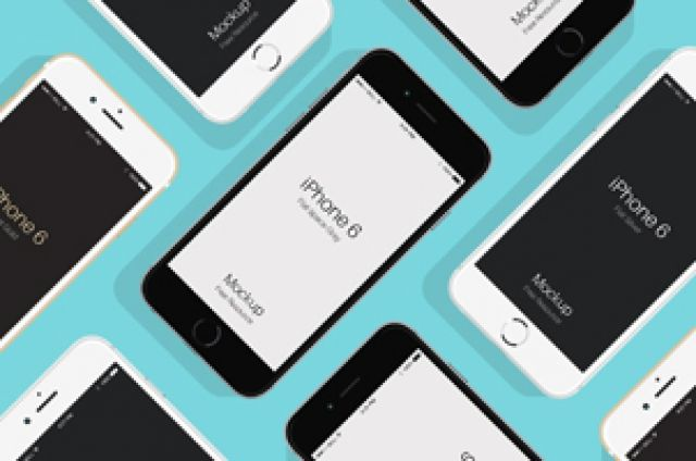 This is a series of flat psd iPhone 6 and iPhone 6s design mockups. Available in three different colors both in...