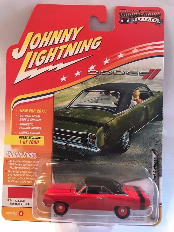 1:64 Johnny Lightning Muscle Cars USA 2017 - 1969 Dodge Dart Bright Red #JohnnyLightning #Dodge