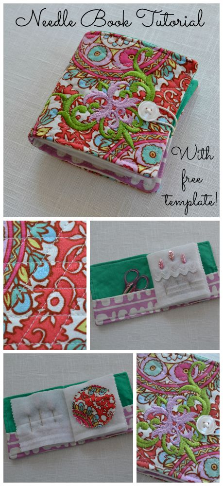 Needle Book Tutorial~With Free Template!  (oh my god!! i love theseits so freaking cute!)