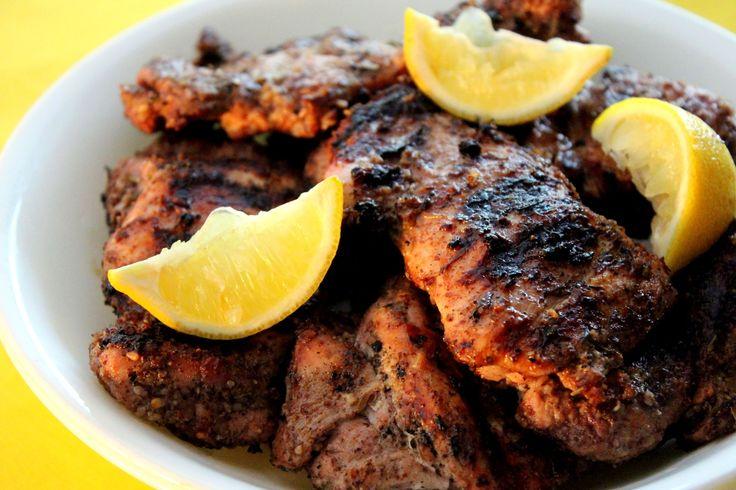 skinnymixer's Za'atar Grilled Chicken Author: skinnymixer's Type: Dinner Cuisine: Middle Eastern Ingredients 15 g white sesame seeds 1 tbsp ground sumac 2 tsp dried oregano 1 tsp dried thyme 1 tsp salt ½ tsp coconut sugar (or preferred sweetener) 1 garlic clove, peeled 15 g olive oil 30 g lemon juice 8 deboned chicken … Continue reading skinnymixer's Za'atar Grilled Chicken
