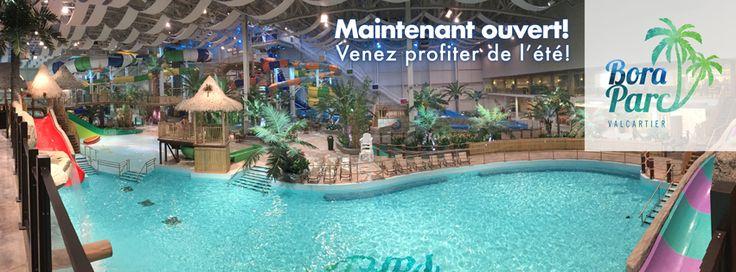 Le Bora parc est un parc aquatique intérieur situé au Village Vacances Valcartier. De style polynésien, chauffé à 30 degrés celsius à l'année, il comprend plus de 14 glissades, dont 5 de 50 pieds de haut, une grande piscine à vagues (4000 pi2), une piscine familiale avec jeux d'eau, une rivière d'aventure multi-activités, une vague de surf double, un restaurant (Polynesia), un bar (le Chalet Sportif) avec terrasse et salons privés pour les groupes ainsi que quatre salles pour fêtes d'enfa...