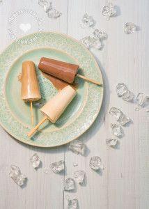 Paletas de Chocolate, Café y Vainilla