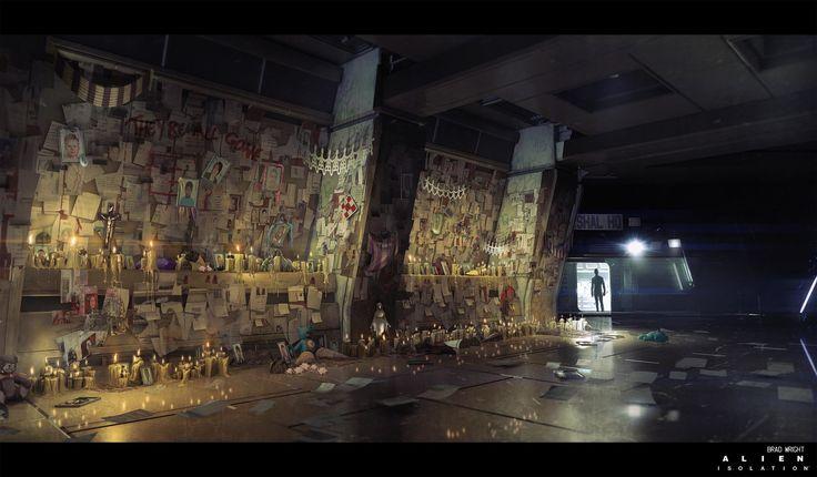 ArtStation - Alien Isolation_Shopping Centre Environment Concept dump, Brad Wright