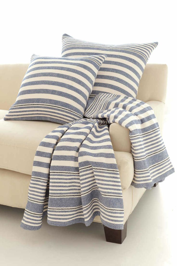 735 best coastal style pillows 39 n cushions images on for Dash and albert blanket
