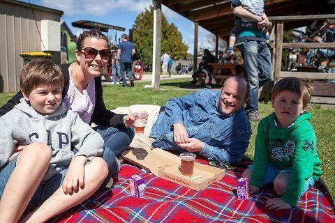 Enjoying a sunny afternoon at Seven Sheds Oktoberfest