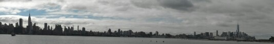 Cell phone picture of NYC skyline taken by Maria Proietti